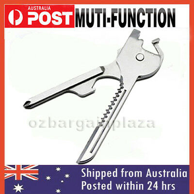 Stainless Steel SWISS+TECH Tool Utili Key 6 in 1 Keychain Multi-Tool Keyring