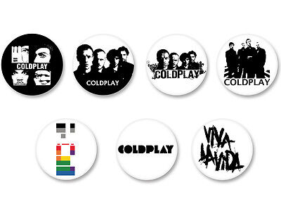 Lot Pack Badge Button Ø25mm Coldplay Groupe Bands Pop UK Chris Martin