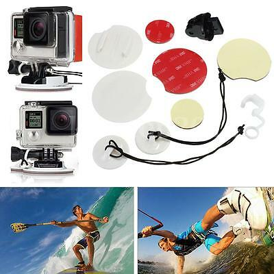 Surfing Security Mount Pack Adapter Surfboard Tether FCS For GoPro Hero 4 3+ 3 2