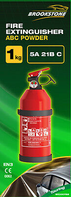 Brookstone 1Kg Abc Powder Fire Extinguisher - Ideal for Cars