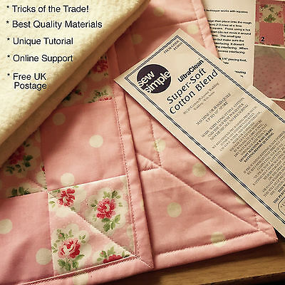 Make A Quilt In A Morning Speed Quilting Complete Kit Tutorial *online Support*!