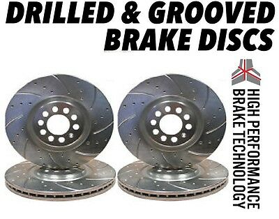 Saab 9-5 Aero 2.3 308mm 1999-2005 DRILLED GROOVED BRAKE DISCS Front & Rear