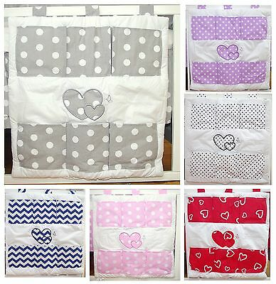 Baby's Comfort COT TIDY ORGANISER with HEARTS ( 12 NEWEST DESIGNS )