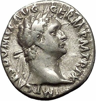 DOMITIAN son of Vespasian Silver Ancient Roman Coin Athena Minerva i53277