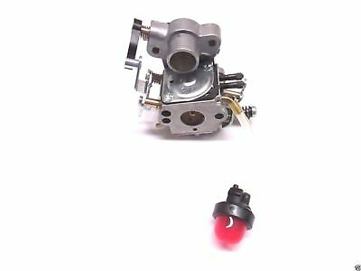 Genuine Husqvarna 545070601 Carburetor with Bulb Fits Poulan Pro Sears Craftsman