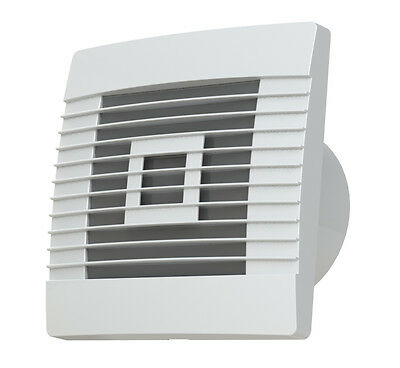 EXTRACTOR BATHROOM FAN BASIC/HUMIDISTAT&TIMER 100mm, GRAVITY GRILLE