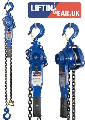LiftinGear 750kg Manual Hand Ratchet Chain Lever Hoist 1.5-6mtr, Winch Lift Pull