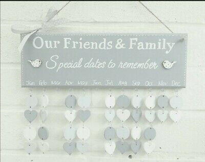 Family Birthday board plaque calendar reminder friends Christmas gift handmade