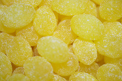 Sanded Lemon Drops Old Fashioned Hard Candy 1 pound - FREE SHIPPING