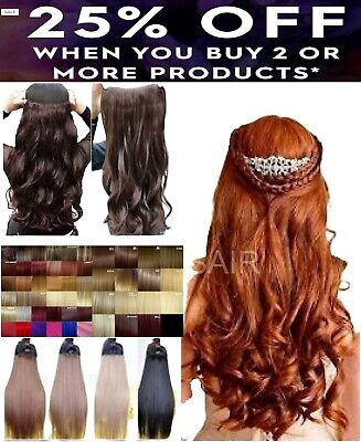 "Ginger 24"" HAIR EXTENSION half head  red plum ginger burgundy golden ash brown"