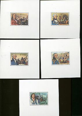 AMERICAN REVOLUTION BICENTENNIAL Proof Cards #C181 -85 MNH Chad ARB-10