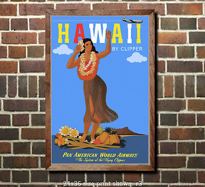 6 sizes, matte+glossy avail Vintage Airline Travel Poster Pan Am Germany