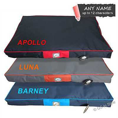 Personalised Oxford Nylon Pet Bed Large Dog Pillow Washable Removable Cover