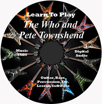 The Who N Pete Townshend Guitar TABS Lesson CD 85 Songs + Backing Tracks + BONUS