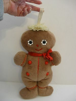"Vintage 14"" Eden Toys Plush Chime GIngerbread Man VERY CUTE"