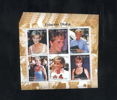(925597) 6x Royalty, Diana, Small lot, Private / local issue