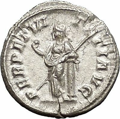 Severus Alexander 228AD Ancient Silver Roman Coin Forethought Provident  i51131