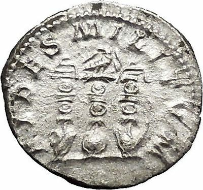 ELAGABALUS Bisexual Emperor SILVER Ancient ROMAN Coin Three standards i51120