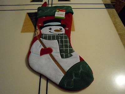 "New ! Christmas Snowman Stocking  20"" Long"