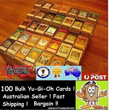 YuGiOh!  100 x Bulk Cards   [10 HOLOS & RARES] CHEAPEST GENUINE BEST KONAMI PACK