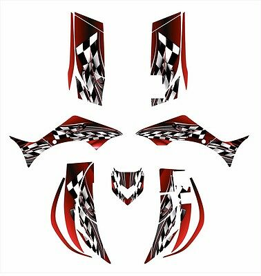 2006 - 2012 Yamaha Wolverine 450 graphics decal kit NO2500 Red
