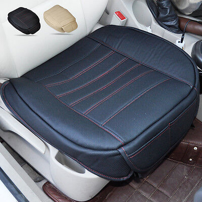 Auto Black Universal Car PU leather Seatpad Car seat cover for Interior chairs