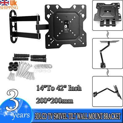 Tilt Swivel LCD TV Bracket Wall Mount for Samsung LG 14 17 19 22 26 32 37 40 42""