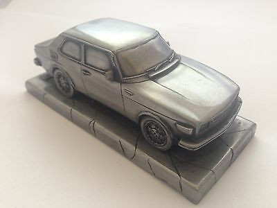 Saab 99T Pewter Effect 1.43 Scale Model Car Made In Sheffield