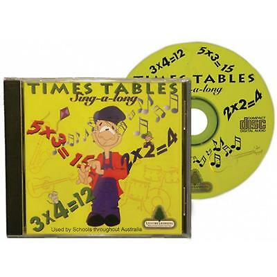 Times Tables CD Educational Mathematics Learning Sing Along Math Primary School