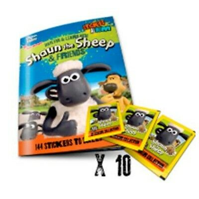 Have Fun And Learn With Shaun The Sheep Sticker Album Plus 10 Packs Of Stickers