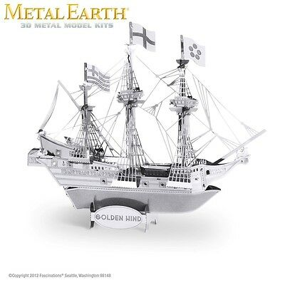 Fascinations Metal Earth Golden Hind Ship Laser Cut 3D Model