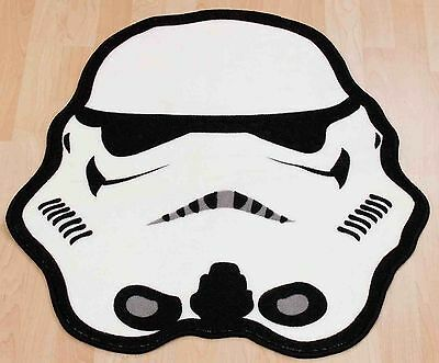 Star Wars Trooper Shaped Rug Mat Carpet Boys Kids Childrens Character Bedroom