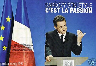 Coupure de Presse Clipping 2008 (6 pages) Nicolas sarkozy son style la passion