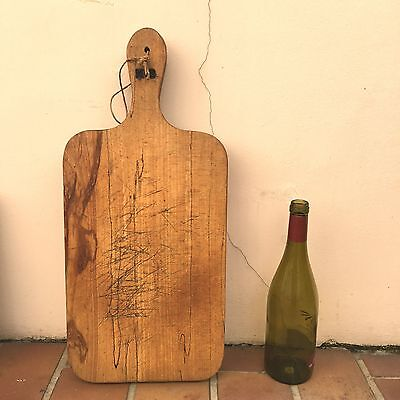 Antique Vintage French Bread Or Chopping Cutting Board  Wood 225