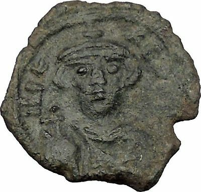 CONSTANS II 641AD Follis Syracuse Sicily Ancient Medieval Byzantine Coin i51388