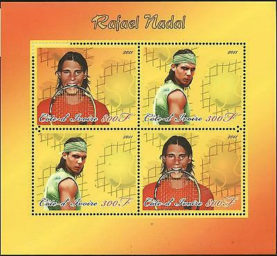 (144774) Tennis, Nadal, Cote d'Ivoire - private issue -