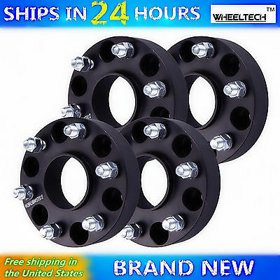 "4X 1.5"" Chevy GMC 6x5.5 Hubcentric Wheel Spacers 14x1.5 Studs for 6Lug Truck SUV"