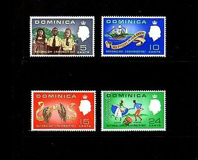 Dominica - 1967 - National Day - Ship - Children - Dancers - Mint - Mnh - Set!