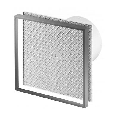 "Tiled Bathroom Extractor Fan 100mm / 4"" Timer Humidity Sensor Humidistat WI100H"