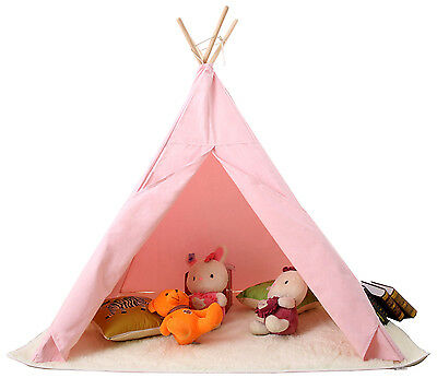 Childrens Kids Girls Teepee Tipi Tent Playhouse Curtains indoor outdoor Tent