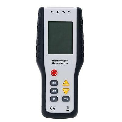 -328~2501°F Digital 4 Channel Thermometer Temp Meter K Type Thermocouple RO71