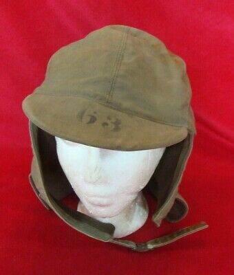 WWII US NAVY DECK HAT CAP SIZE 7 with # 63