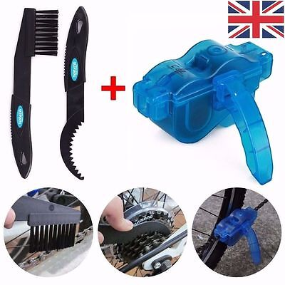 Cycling bike bicycle 3d chain cleaner quick clean tool brushes scrubber new
