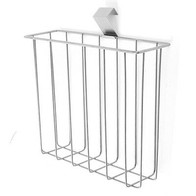 Over The Toilet Tank Magazine Book Newspaper Metal Wire Rack Organizer Holder
