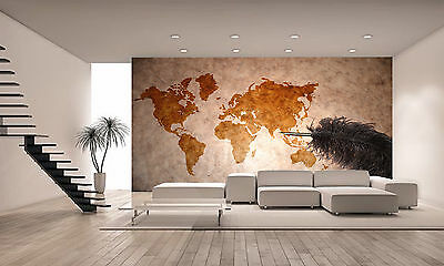 Vintage World Map Wall Mural Photo Wallpaper GIANT DECOR Paper Poster Free Paste