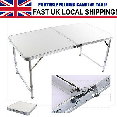 4FT Portable Folding Camping Picnic Table Party Garden Outdoor BBQ Furniture HOT
