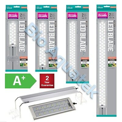 Arcadia Blade Aquarium LED Light Slim IP67 Marine White 170mm - 820mm 7w - 26w