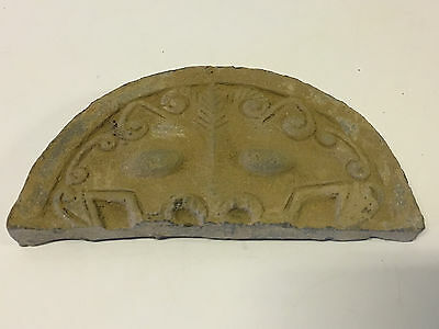 Antique Chinese Poss. Ancient Terra Cotta Temple Roof Tile Dragon Foo Dog Face