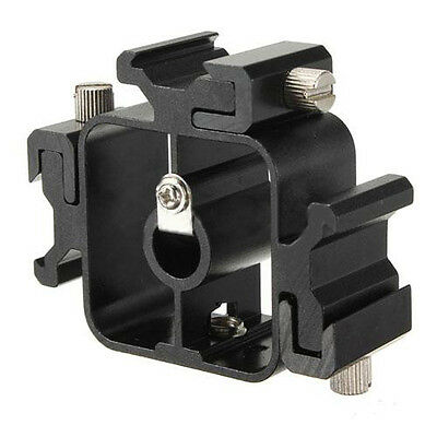 3 in 1 All-metal Tri-Hot Shoe Mount Adapter for Flash Light Stand MJ