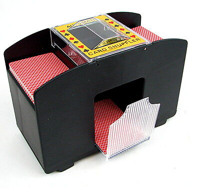 4 Deck Automatic Playing Card Shuffler Poker Casino Blackjack Texas Holdem Game